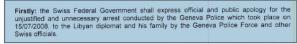 Aus dem Staatsvertrag zwischen der Schwiz und Libyen...