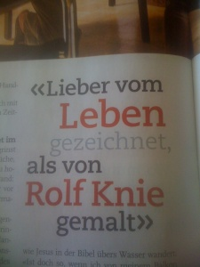 Aus dem Magazin des Sonntagsblick: Polo Hofers Spruch des Sonntags...