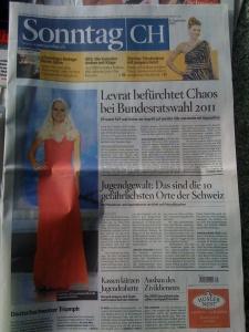 So gewichtet der Sonntag: Miss Schweiz seitenhoch...