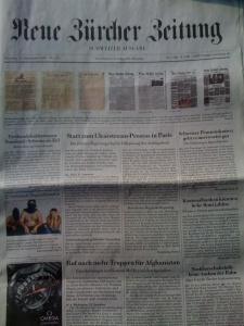"""Am Mittwoch erscheint die neu gestaltete """"Neue Zürcher Zeitung""""... das wurde heute – nicht gerade bescheiden – angekündigt. Nun schauen wir mal..."""