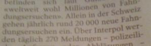 Hmmm: 20 000 (pro Jahr) sollen eingefangen werden; da hatte Polanski wirklich Pech.