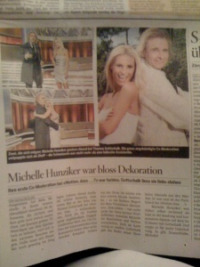 """Einheitsmeinung? Weit gefehlt... der Sonntag über den Auftritt von Michelle Hunziker bei """"Wetten dass..."""""""