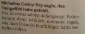 Leuenberger über Calmy-Rey