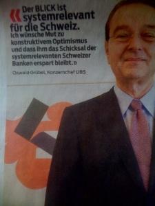 """Die witzigste Gratulation an den """"Blick"""" kommt vom UBS-Chef Oswald Grübel."""